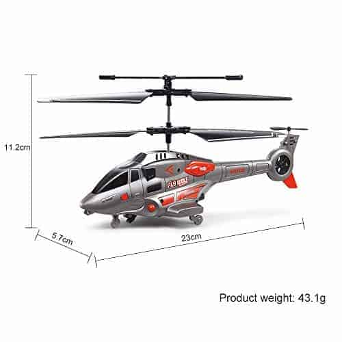 Vatos Rc Helicopter Remote Control Helicopter With Gyro And Led Light 3 5 Channel Alloy Mini Military Series Helicopter Cnc Heli
